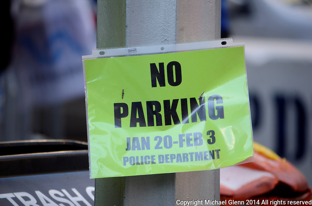 29 Jan 2014 NYC  Parking is tough in the area surrounding Super Bowl Boulevard  Michael Glenn