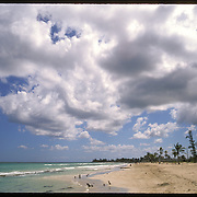 A Cuban beach, Playa del Este, near Havana.