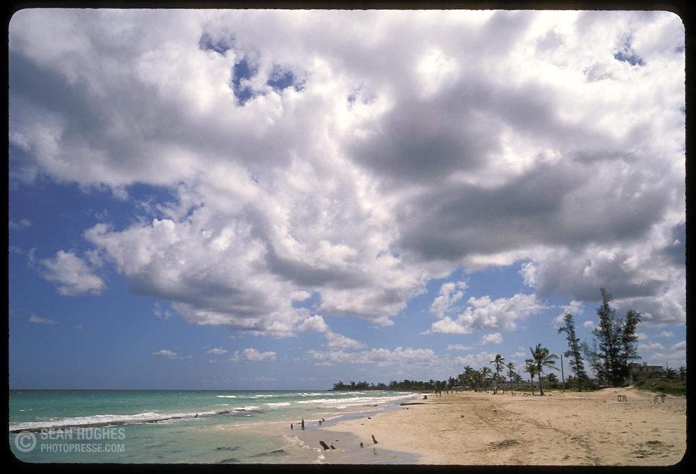A Cuban beach, Playa del Este, near Havana.