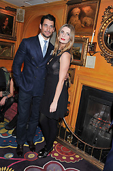 DAVID GANDY and MISCHA BARTON at the Johnnie Walker Blue Label and David Gandy partnership launch party held at Annabel's, 44 Berkeley Square, London on 5th February 2013.