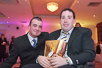 "GMIT""s Jason Bourke from Tuam and Noel St John Parkmore  at the Ability West Best Buddies ball at the Menlo Park Hotel, Galway. Photo:Andrew Downes Photography."