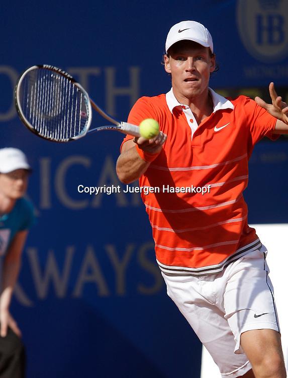 BMW Open 2009, Muenchen, Sport, Tennis,  International Series ATP  Tournament,  Tomas Berdych (CZE),Aktion..Foto: Juergen Hasenkopf
