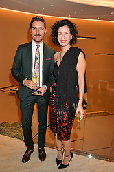 ? and MOLLIE DENT-BROCKLEHURST at a dinner hosted by Tod's to celebrate the refurbishment of their store 2-5 Old Bond Street, London on 15th September 2016.
