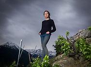 Caroline Frey, oenologue, le 9 mai 2016<br /> <br /> Vin vigne viticulture vignoble c&eacute;page raisin <br /> <br /> (PHOTO-GENIC.CH/ OLIVIER MAIRE)