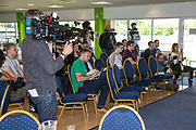 Forest Green Rovers press conference during the Forest Green Rovers Photocall at the New Lawn, Forest Green, United Kingdom on 31 July 2017. Photo by Shane Healey.