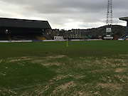Damage to Dens Park pitch <br /> <br />  - &copy; David Young - www.davidyoungphoto.co.uk - email: davidyoungphoto@gmail.com