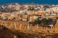 Colonnaded street, Greco-Roman ruins, Jerash, Jordan.