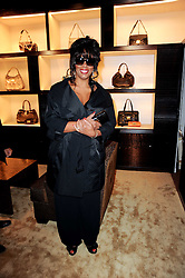 DONNA SUMMER at a party to celebrate the opening of the Louis Vuitton Bond Street Maison, New Bond Street, London on 25th May 2010.