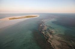 Extensive reefs and sandbanks surround Adele Island off the Kimberley coast.