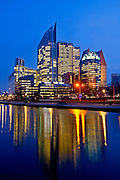 Photo: Gerrit de Heus. The Netherlands. The Hague by night. Government buildings