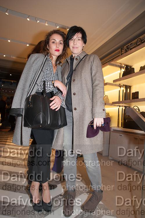 NOOMI RAPACE; SHARLEEN SPITERI, Smythson Sloane St. Store opening. London. 6 February 2012.