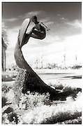 Edmund Shumpert's Bronze Surf Sculpture In Huntington Beach