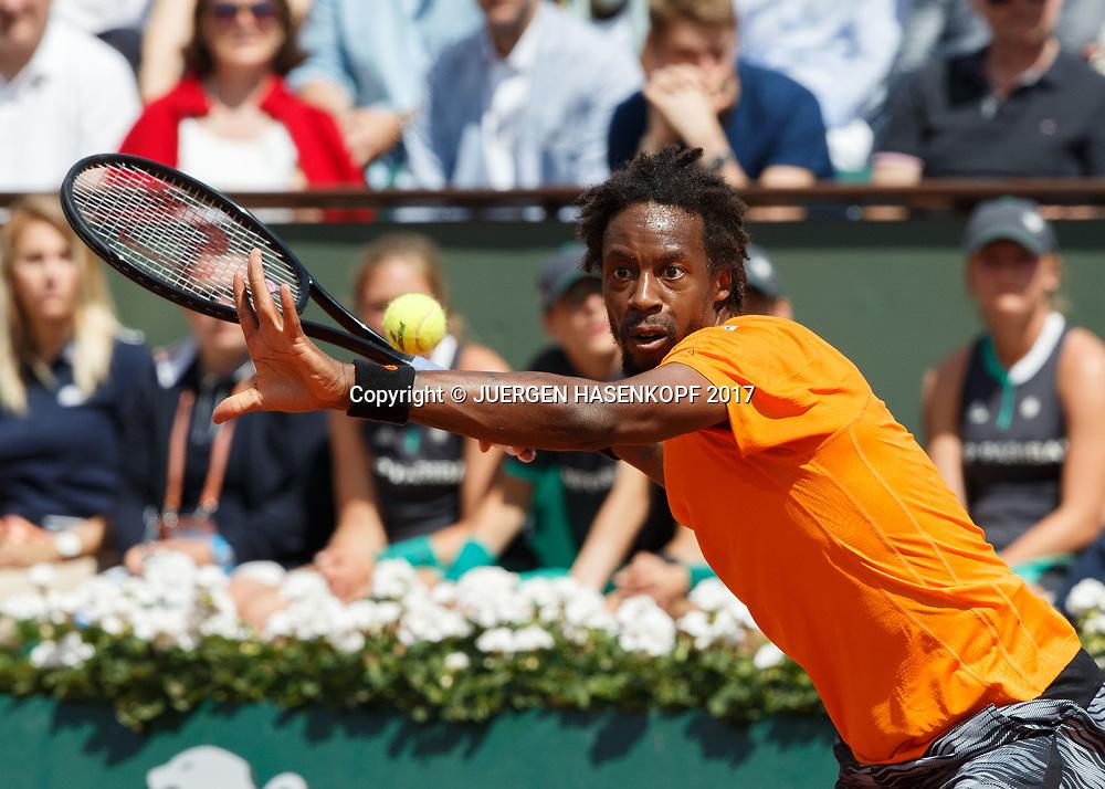 GAEL MONFILS (FRA)<br /> <br /> Tennis - French Open 2017 - Grand Slam / ATP / WTA / ITF -  Roland Garros - Paris -  - France  - 5 June 2017.
