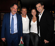 """**EXCLUSIVE**.Director Oliver Stone, Restaurant owner Rocco Ancarola, a friend and Oliver's son Sean Stone..Oliver Stone 64th Birthday Dinner..Rabbit in the Moon Restaurant..New York, NY, USA..Wednesday, September 15, 2010..Photo ByiSnaper.com/ CelebrityVibe.com..To license this image please call (212) 410 5354; or Email:CelebrityVibe@gmail.com ;.website: www.CelebrityVibe.com.It was a family affair as Oliver Stone gather his son Sean Stone and friends for dinner at Rabbit in the Moon Restaurant in New York..Oliver Stone's son Sean Stone, took time off from his busy filming and editing schedule of his new movie """"Secret Stone"""" to celebrate his father's 64th birthday.."""