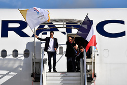 PARIS, Sept. 15, 2017  Paris's Mayor, Anne Hidalgo (R) and Paris 2024 bid chief Tony Estanguet (L) walk out of the cabin at the Charles de Gaulle Airport in Paris, France on Sept. 15, 2017. The delegation of the Paris 2024 returned to Paris on Friday. The International Olympic Committee (IOC) voted Wednesday in Lima for French capital Paris to host the 2024 Summer Olympic Games and Los Angeles of the United States the 2028 Games.   wll) (Credit Image: © Chen Yichen/Xinhua via ZUMA Wire)