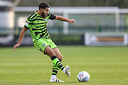Forest Green Rovers Dominic Bernard(3) passes the ball forward during the EFL Sky Bet League 2 match between Forest Green Rovers and Plymouth Argyle at the New Lawn, Forest Green, United Kingdom on 16 November 2019.