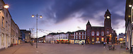 Market Place at dusk, Newbury, Berkshire, Uk
