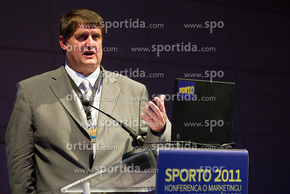 Roman Lisac, general manager of Adriatic Basketball ABA League and Sport TV during sports marketing and sponsorship conference Sporto 2011, on November 22, 2011 in Hotel Slovenija, Congress centre, Portoroz / Portorose, Slovenia. (Photo By Vid Ponikvar / Sportida.com)