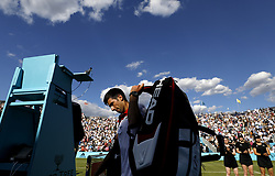 Serbia's Novak Djokovic after his win against Bulgaria's Grigor Dimitrov during day four of the Fever-Tree Championship at the Queen's Club, London.