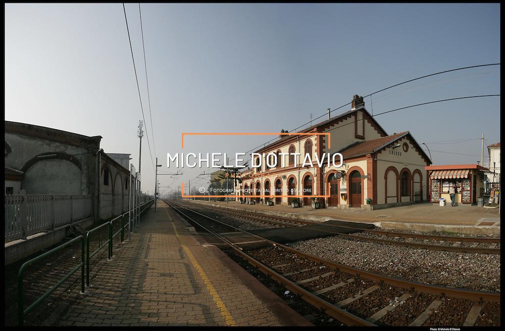 stazione di Caluso, sulla tratta ferroviaria  Torino Aosta