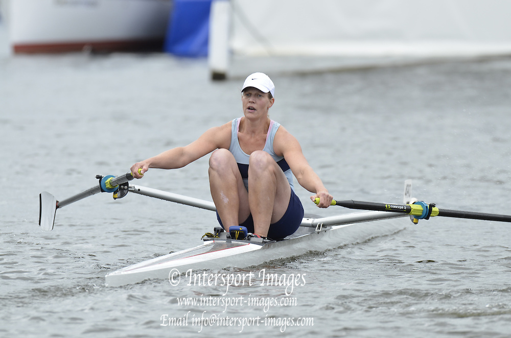 Henley, GREAT BRITAIN. Princess Royal Challenge Cup. I. PENNY. CAN. W1X, Women's single sculls final.  2012 Henley Royal Regatta.  ..Sunday  11:50:33  01/07/2012. [Mandatory Credit, Peter Spurrier/Intersport-images]...Rowing Courses, Henley Reach, Henley, ENGLAND . HRR.