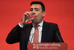 © Licensed to London News Pictures . 30/09/2015 . Brighton , UK . ANDY BURNHAM speaks to the conference . The 2015 Labour Party Conference . Photo credit : Joel Goodman/LNP