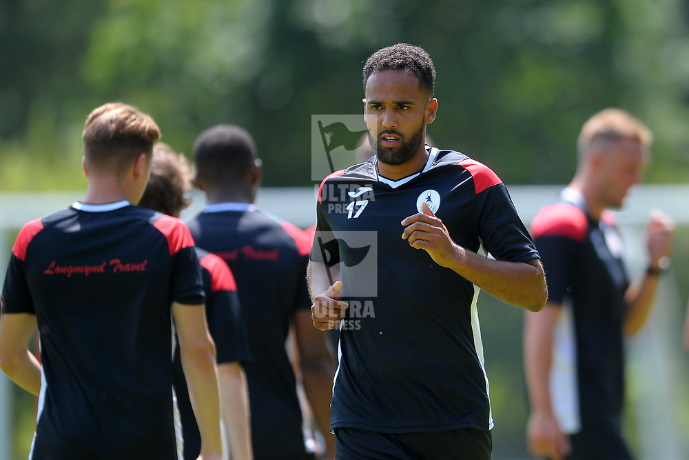 Brendon Daniels in action as AFC Telford United return to pre-season training at Lilleshall National Sports Centre on Saturday, June 29, 2019.<br /> <br /> Free for editorial use only<br /> Picture credit: Mike Sheridan/Ultrapress<br /> <br /> MS201920-003