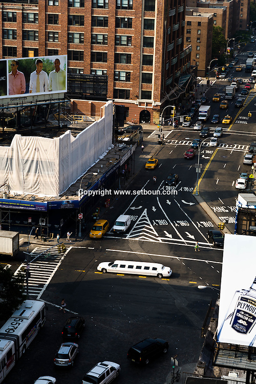 New York. Meat packing district elevated view-  New york - United states / le meat packing district ancien quartier de la viande  vue du hautNew york - Etats unis