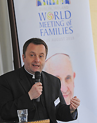 Fr Timothy Bartlett, Secretary General for the World Meeting of Families speaking at &lsquo;Celebrating Family&rsquo; day held at Knock Shrine recently.<br />