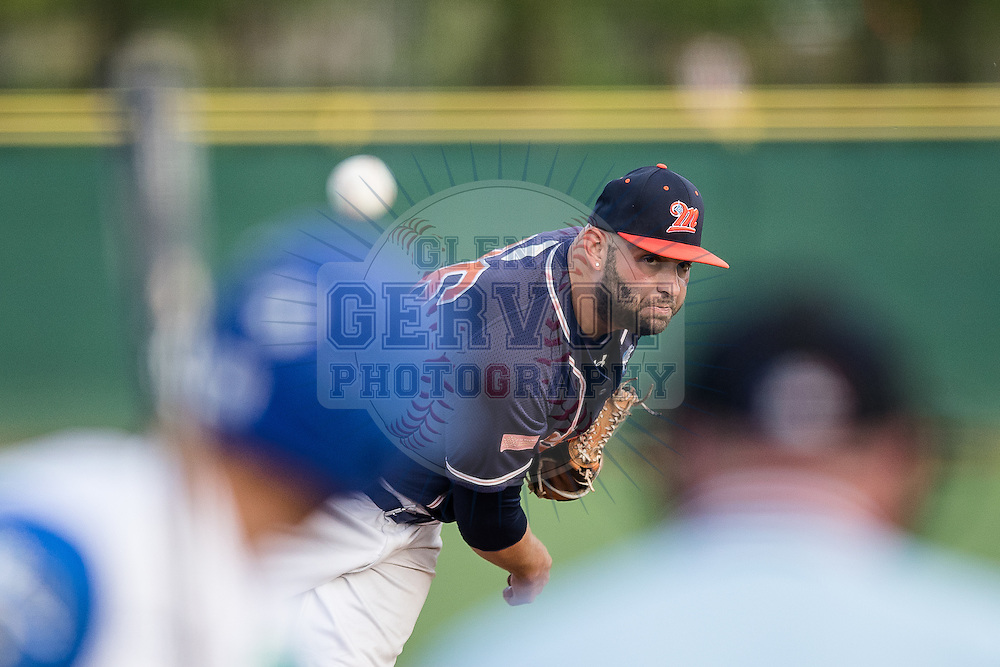 Photos prises lors du Challenge de France 2016. Match entre les Barracudas de Montpellier et les French Cubs de Chartres, remport&eacute; par les Montpelli&eacute;rains 7 &agrave; 3. <br /> Le 06/05/2016 au Senart Baseball Field, Senart.<br /> Credit photo : Glenn Gervot