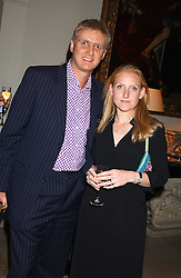 RUPERT & SARAH HESELTINE he is the son of Michael Heseltine at the Bruce Oldfield Crimestoppers Party held at Spencer House, 27 St.James's Place, London SW1 on 22nd September 2005.<br /><br />NON EXCLUSIVE - WORLD RIGHTS
