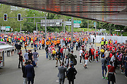 Liverpool fans entering the stadium before the Europa League Final match between Liverpool and Sevilla at St Jakob-Park, Basel, Switzerland on 18 May 2016. Photo by Phil Duncan.