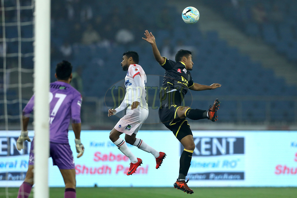 Lalruatthara of Kerala Blasters FC during match 43 of the Hero Indian Super League between Delhi Dynamos FC and Kerala Blasters FC  held at the Jawaharlal Nehru Stadium, Delhi, India on the 10th January 2018<br /> <br /> Photo by: Arjun Singh  / ISL / SPORTZPICS