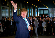 THE HAGUE - King Willem-Alexander attends the fiftieth edition of the annual UN youth conference in the World Forum in The Hague. copyright robin utrecht DEN HAAG - Koning Willem-Alexander is aanwezig bij de vijftigste editie van de jaarlijkse VN-jongerenconferentie in het World Forum in Den Haag. copyright robin utrecht
