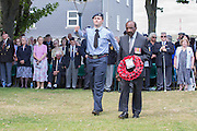 Neil Flanagan MBE, President  of the West Indian Association of Service Personnel laying a wreath at the 74th Anniversary of the Dieppe Raid (19 August 1942) Memorial Service held at Newhaven Fort and the Canadian War Memorial. Attended by Veterans, dignitaries and guests. Organised by Canadian Veterans Association (Brighton Branch) and Newhaven Council.