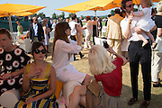DAISY LOWE, Jonathan Heaf; Valentine Fillol Cordier<br /> Veuve Clicquot Gold Cup, Cowdray Park, Midhurst. 21 July 2013