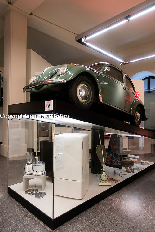 Early VW Beetle car on display at Berlin History Museum , Germany,