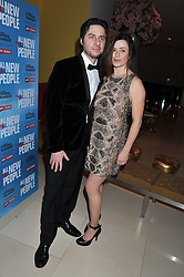 ZACH BRAFF and EVE MYLES at an after show party following the opening night of All New People held at the St.Martin's Lane Hotel, London on 28th February 2012.