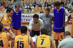 Coach of Luka Koper Konstantin Subotic  at 12th Round of UPC League basketball match between KK Luka Koper and KK Zlatorog Lasko, on May 2, 2009, in Arena Bonifika, Koper, Slovenia. Zlatorog won the match 72:71. (Photo by Vid Ponikvar / Sportida)