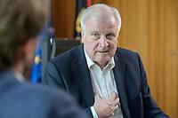 01 JUL 2019, BERLIN/GERMANY:<br /> Horst Seehofer, CSU, Bundesinnenminister, waehrend einem Interview, in seinem Buero, Bundesministerium des Inneren<br /> IMAGE: 20190701-01-014<br /> KEYWORDS: Büro