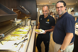 August 24, 2017 - Tubize, BELGIUM - Belgium's head coach Roberto Martinez and Belgium's chef Bartel Dewulf, member of the staff of Belgian national soccer team Red Devils pictured, Thursday 24 August 2017, in Tubize. BELGA PHOTO VIRGINIE LEFOUR (Credit Image: © Virginie Lefour/Belga via ZUMA Press)