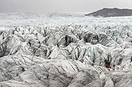Impressions at the glacier Svinafellsjökull in the south of Iceland