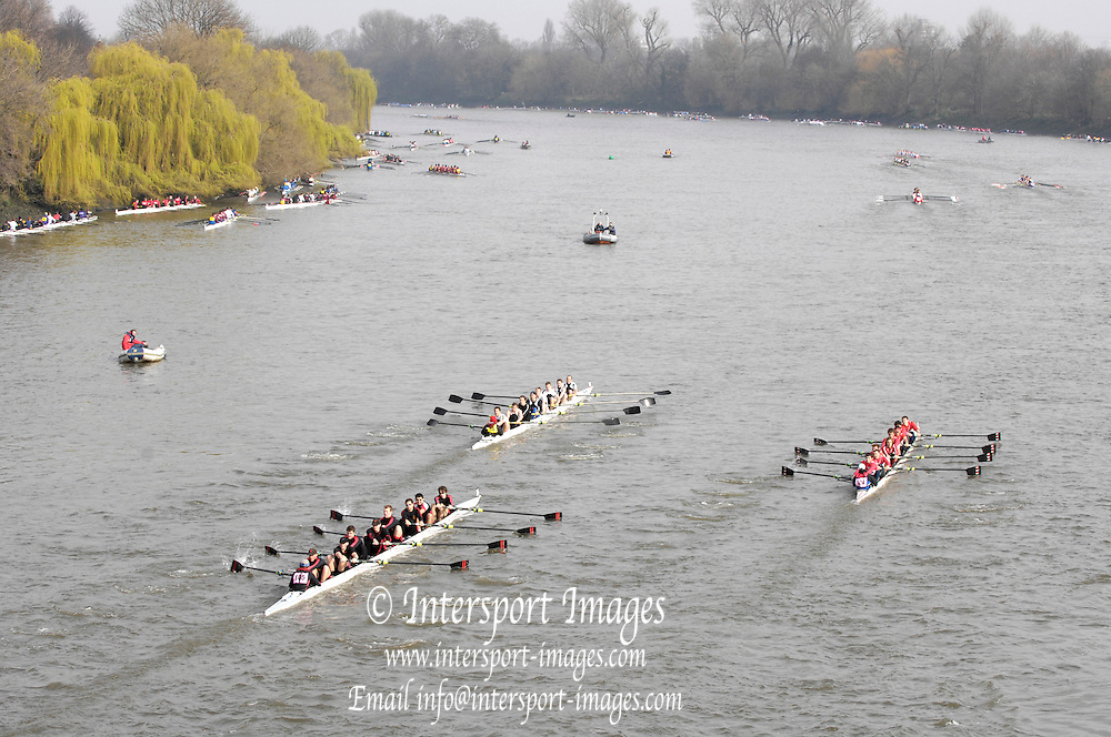 Putney/Barnes,  Great Britain,  left, Jesus College, - 2008 Head of the River Race. Raced from Mortlake to Putney, over the Championship Course.  15/03/2008  [Mandatory Credit. Peter Spurrier/Intersport Images] Rowing Course: River Thames, Championship course, Putney to Mortlake 4.25 Miles,