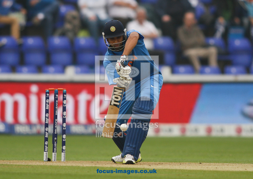 Picture by Tom Smith/Focus Images Ltd 07545141164<br /> 20/06/2013<br /> Rohit Sharma of India batting during the ICC Champions Trophy match at the SWALEC Stadium, Cardiff.