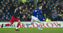 CARDIFF, WALES - Tuesday, February 1, 2011: Cardiff City's Aaron Ramsey chases after the ball during the Football League Championship match at the Cardiff City Stadium. (Photo by Gareth Davies/Propaganda)
