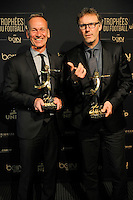 Laurent BLANC / Jean Marc FURLAN - 17.05.2015 - Ceremonie des Trophees UNFP 2015<br />
