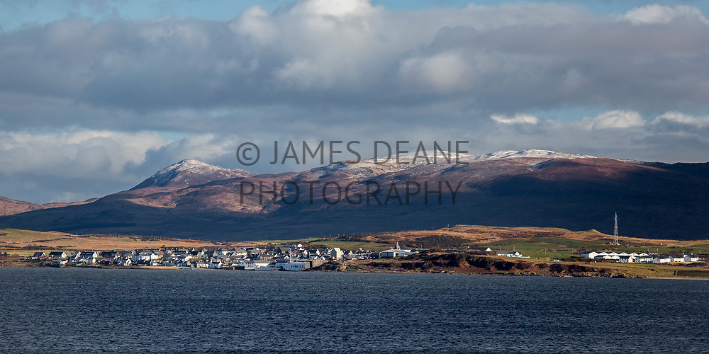 A Winter View across Loch Indaal to Bowmore