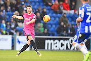 Hartlepool player Rhys Oates crosses the ball into the box in the second half during the EFL Sky Bet League 2 match between Colchester United and Hartlepool United at the Weston Homes Community Stadium, Colchester, England on 25 February 2017. Photo by Ian  Muir.Hartlepool goalkeeper Joe Fryer warms up during the EFL Sky Bet League 2 match between Colchester United and Hartlepool United at the Weston Homes Community Stadium, Colchester, England on 25 February 2017. Photo by Ian  Muir.