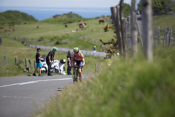 Annemiek van Vleuten (NED) of Orica Scott Cycling Team leads the chase on Stage 5 of the Emakumeen Bira - a 95.2 km road race, starting and finishing in Errenteria on May 21, 2017, in Basque Country, Spain. (Photo by Balint Hamvas/Velofocus)