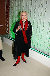 CELIA BIRTWELL at an exhibition of David Hockney portraits at the National Portrait Gallery sponsored by Burberry on 11th October 2006.<br /><br />NON EXCLUSIVE - WORLD RIGHTS